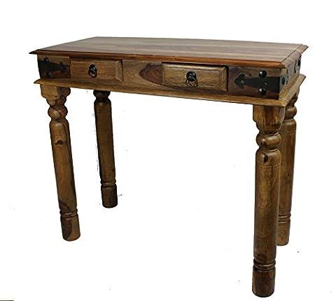 Computer Desk Sheesham Rosewood Hardwood Consol Thakat