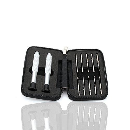 Preisvergleich Produktbild Szjsl Mini Brillengläser Uhren Mobiltelefone Taschen-Schraubendreher Set-Set-Set Set Uhr-Reparatur-Tool Optisches Instrument, importierter Elektro-Schraubendreher