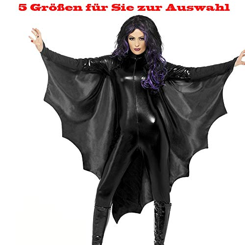 Vampir Kostüm Trikot - Shuibian sexy Karneval Halloween Fledermaus Batman Geist Vampir kostüm für Teenager Damen Herren Frauen Karneval Fasching Fastnacht Cosplay Party Kostüme Vampir-Fledermausflügel S,M,L,XL,XXL