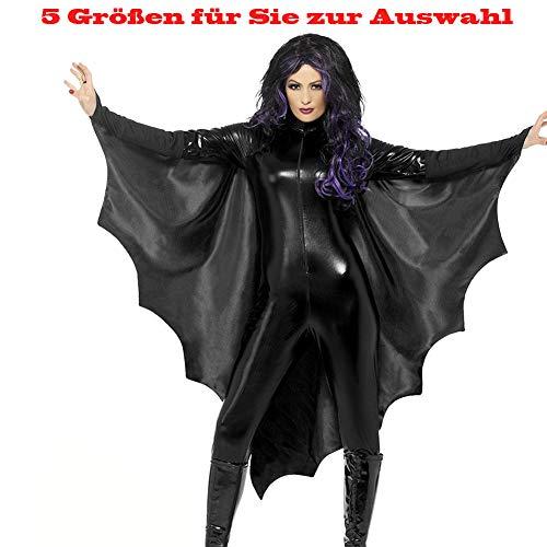 fasching batman Shuibian sexy Karneval Halloween Fledermaus Batman Geist Vampir kostüm für Teenager Damen Herren Frauen Karneval Fasching Fastnacht Cosplay Party Kostüme S,M,L,XL,XXL