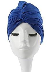 Butterme femmes dames plissés étirable bonnet de bain Piscine Baignade turban Pour Cheveux longs