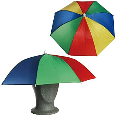 Umbrella Hat Cap Head Fishing Camping Hiking Sun Shade Outdoor Brolly Foldable from Guilty Gadgets