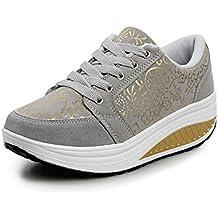 QZBAOSHU Moda Zapatillas para Mujer Niñas Fitness Running Zapatos Deportivos Cuñas