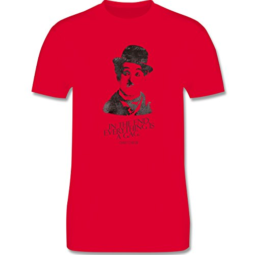 Vintage - Charlie Chaplin - in the end, everything is a gag - Herren Premium T-Shirt Rot