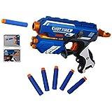 Brand Conquer Foam Blaster Gun Toy With 10 Bullets (Multicolour, 687678)