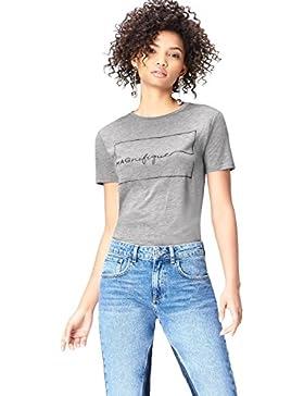 FIND T-Shirt con Stampa Donna