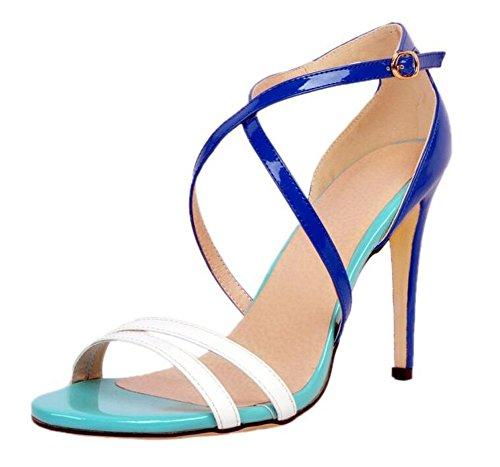 Donne Donne Donne Donne Donne Eleganti Elegante Sandali Di Elegante Elegante Blue