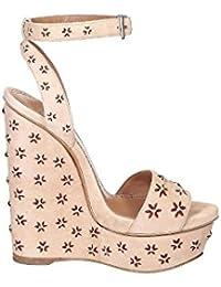 Alaïa Mujer 6E3X842CC06 Beige Gamuza Zapatos De Cuña