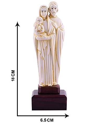 Jesus Maria und Joseph Idol Statuen Visitenkarte L Jesus Familie Christian religiöse L Jesus Familie Statue 18cm x 6,5cm L von Affaires ideal Geschenk für Weihnachten & Home/Office Dekor g-469
