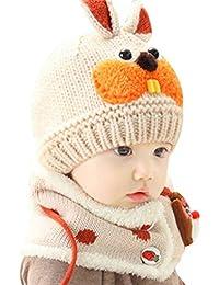 Beanie Kid Gargantilla Chica Garcon Hat Bufanda 2 piezas Conjunto de lana  de punto de invierno 60c8ef87ccd