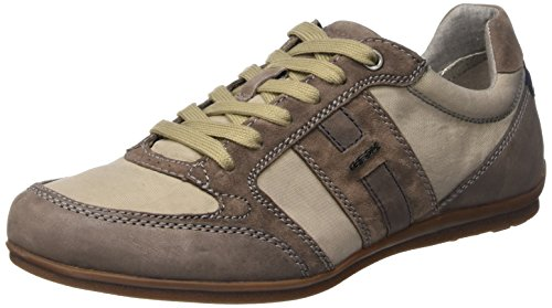 Geox U Houston A Scarpe Low-Top da Uomo, Colore Beige (Shells/Dove Grey), Taglia 41 EU