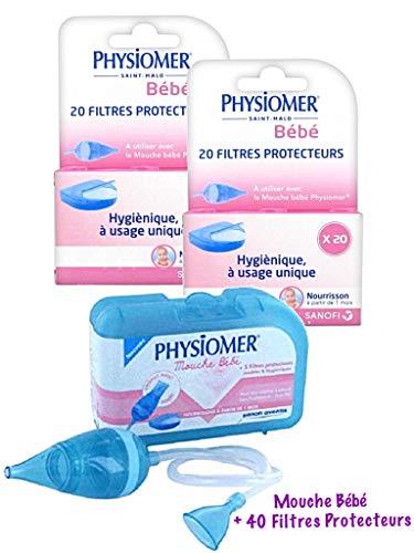 Physiomer Mouche Bébé + Physiomer 40 Filtres Protecteurs