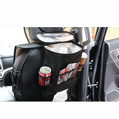 SXJ Organizer Für Autositze/Organizer Für Autositzlehnen/Aufbewahrungstasche Für Mehrere Taschen/Isolierter Getränkehalter Für Autositzlehnen Kühler / (Hitzebewahrung) - Kalten Boden Und Wasser-spender