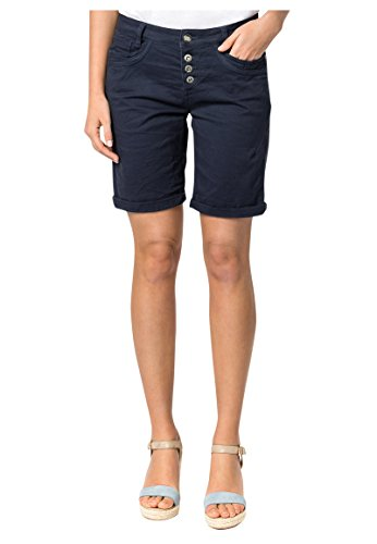 Urban Surface Damen Bermuda Shorts | Bequeme Kurze Stoffhose aus Stretch-Twill - Loose Fit Dark-Blue S (Baumwoll-twill Shorts)