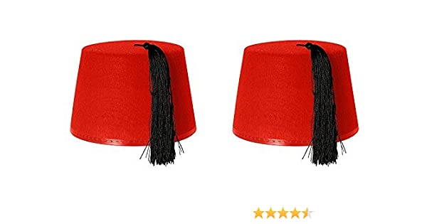 2 X RED FEZ HAT  Amazon.co.uk  Toys   Games e0bf66af43eb
