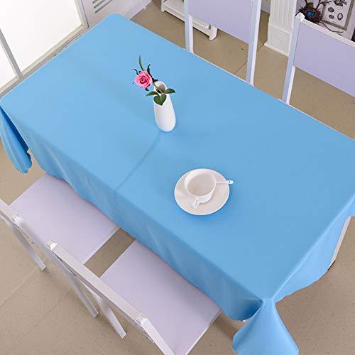 Be&xn Solides Rechteck Tablecloth, Fleckige, Abwaschbare Tischdecke Für Die Dekoration des Abendes-hellblau Blau 120x180cm(47x71inch) - Blau Rechteck Tischdecke