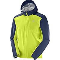 Salomon Bonatti Chaqueta, Hombre, Verde Lima (Acid Lime/Dress Azul), S