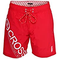 Mens Crosshatch Pacific Designer Mesh Lined Swimming Shorts Beach Board Trunks