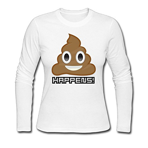 xj-cool-shit-happens-emoji-mujer-personalizado-camisetas-blanco