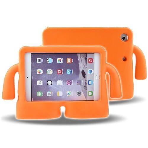 Cover Ipad Shockproof Mini (cloudstoo Schutzhülle für Kinder, Weiche Schutzhülle Apple iPad Mini 1/2/3/4, Shockproof Kids Safe Schaum Griff Cartoon Case Cover Stand für iPad Mini 1/2/3/4,Orange)