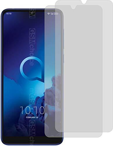2X Crystal Clear klar Schutzfolie für Alcatel 3L 2019 Bildschirmschutzfolie Displayschutzfolie Schutzhülle Bildschirmschutz Bildschirmfolie Folie