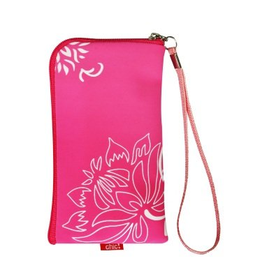 Neopren Zipper Tasche Handytasche FLOWER PINK mit Blumenmuster für Motorola Atrix 4G Huawei Ideos X3 RIM Blackberry Bold 9700 9780 Curve 8520 Storm 2 9520 9550 Nokia C5 C5-03 C6 C7 N78 N79 N8 N97 E71 E72 X6 5228 5230 5250 5800 XpressMusik X3-02 Touch and Type Google NEXUS S Samsung i5800 Galaxy 3 i9000 Galaxy S S5230 S5260 Star 2 II S5570 Galaxy MINI S5620 Monte S8000 Jet S8500 Wave S8530 Wave 2 S5830 Galaxy Ace 525 533 723 LG KP500 Cookie KM900 Arena KM570 Arena II Apple iPhone 3G 3GS 4 4S HTC Desire HD2 Sensation Wildfire Sony Ericsson Vivaz Xperia ARC S X1 X8 X10 Reißverschluss VON BEIDEN SEITEN BEDRUCKT! - Versandkostenfrei in D -