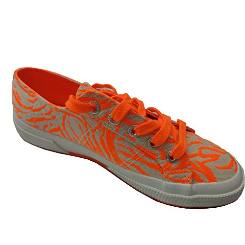 Superga 2750 Cotu Zebufluo Unisex-Erwachsene Sneaker Orange (Orange Flu)