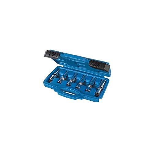 """Silverline 278096 Juego de Llaves de Vaso Articuladas para Bujías, 3/8\""""/8 mm-16 mm, 6 Piezas"""