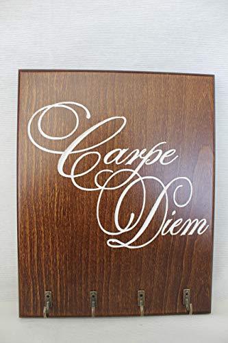 Colgador llaves madera Haya diseño CARPE DIEM Tallado