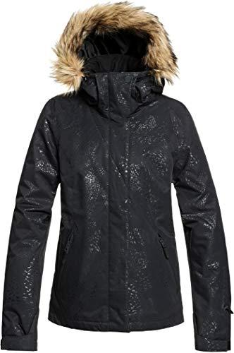 Roxy Jet Solid-Veste de Ski/Snowboard pour Femme, True Black Arrow Feel Emboss, FR : M (Taille Fabricant : M)