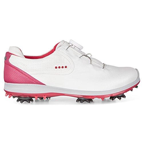 Chaussures De Golf Ecco White / Teaberry Pour Femmes