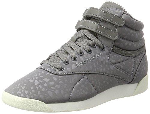 Reebok Damen Freestyle Hi Lux Txt Hohe Sneaker, Grau (Shark/Chalk), 39 EU (Reebok Freestyle Hi)