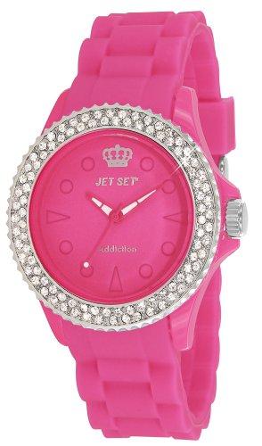 Jet Set - J18934-05 - Addiction 2 - Montre Femme - Quartz Analogique - Cadran Rose - Bracelet Caoutchouc Rose