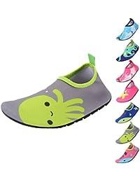 Zapatos de Agua Niño QIMAOO Zapatos de Agua de Natación Niños Zapatos de  Playa para Niños Descalzo Barefoot Agua Respirable Calcetines para la… c8ce0eaeaee