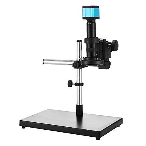 BananaB S1000-A Industry Video Microscope Camera 14MP HDMI USB Microscope Camera digital Microscope 180 X C-Mount Video mikroskop with Big Boom Stand