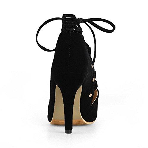 Coolcept Femmes Lacets Black Sandales Sandales Coolcept Lacets Black Femmes FwqwTd7
