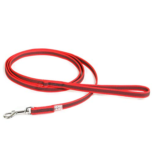 Julius K9 Color & Gray-Super-Grip Leash-Red-Gray Width: