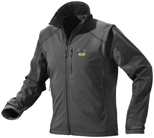 SALEWA Herren Softshelljacke Kabru SW M 2/1 Jacket, Black, 46/S