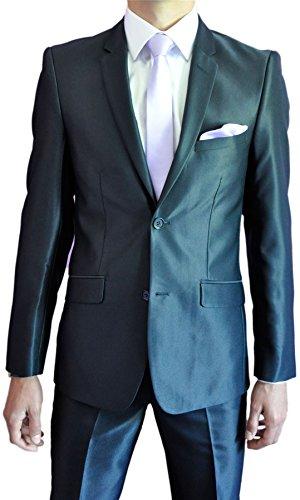 Herren-Anzug Zeremonie satiniert Blau
