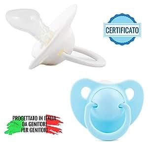 Ciuccio Dentizione Neonato - Gommotto Ortodontico e Anatomico - Set 2 Succhietti - Senza BPA
