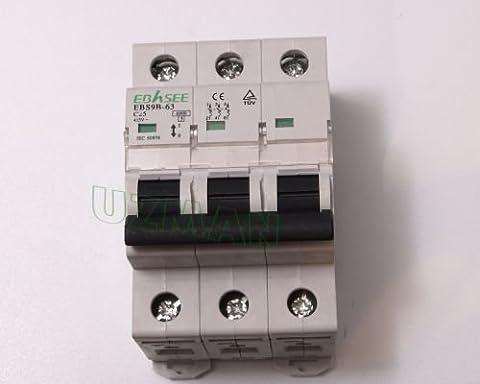 2 x Disjoncteur disjoncteur 3 pôles 25A a amp