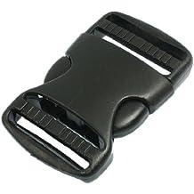 """Hebilla de Liberación Rápida de Plástico Negro de Conexión de Cinturón de Repuesto de 1 1/2"""""""