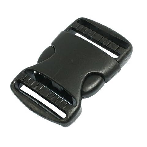 sourcingmap® Boucle plastique noir de rechange dégagement rapide 38mm