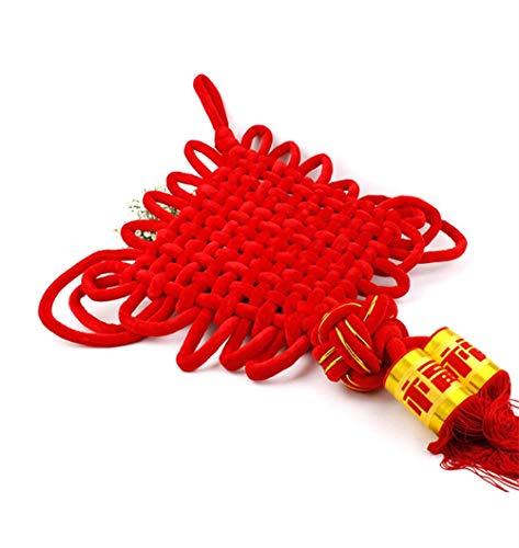 (Dadipin Chinesischer Knoten Hochwertiges Flanell Großer Chinesischer Knoten Wohnzimmeranhänger Frühlingsfest Neues Jahr Dekorationen Chinesische Eigenschaften Handwerk. 8 Platte 10Pcs)