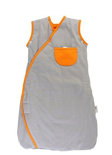 Schlummersack Ganzjahres-Varinate Fußsack für Babys Wilde Tiere grau/orange 2.5 Tog, Größe 18-36 Monate, 110 cm