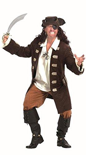 Piratenkostüm braun-beige für Herren | Größe 54 | 3-teiliges Seeräuber Kostüm | Freibeuter Faschingskostüm für Männer | Pirat Kostüm für (Piraten Kostüme Ideen Männer)
