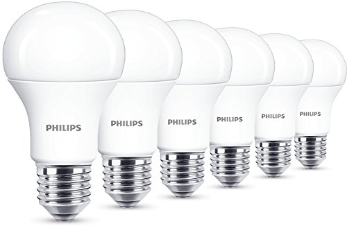 philips led lampe 11 w ersetzt 75 w e27 warmwei 2700k 1055 lumen 6er pack. Black Bedroom Furniture Sets. Home Design Ideas