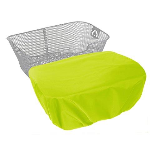 MadeForRain Extra großer, Wasserdichter Regenschutzbezug für Fahrradkörbe CityTurtle XL - Neongelb