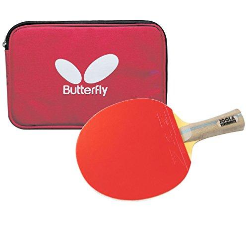 Set: Tischtennisschläger Selection Carbon OFF + Butterfly Doppelhülle