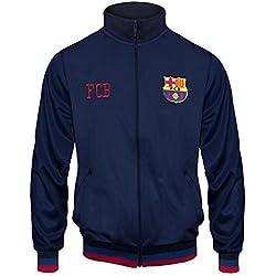 FC Barcelona - Chaqueta de entrenamiento oficial - Para niño - Estilo retro - 8-9 años